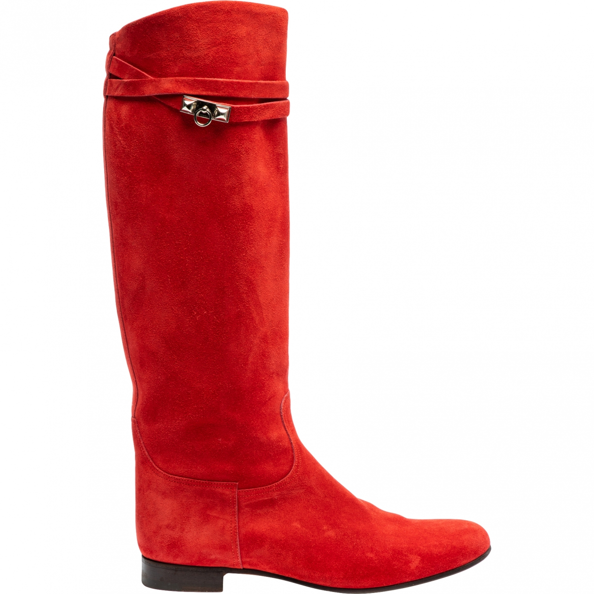 Hermès \N Red Suede Boots for Women 39 EU