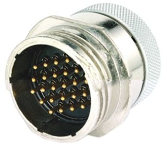 Toughcon Connector, 24 contacts Cable Mount Socket, Crimp IP65