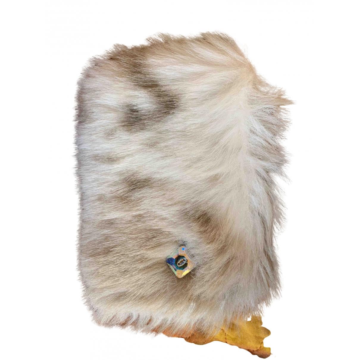 Swarovski \N Anthracite Faux fur Gloves for Women S International