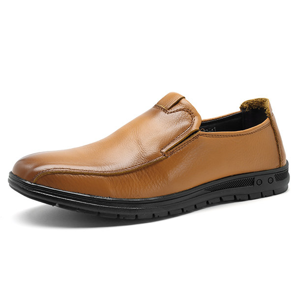 Men Genuine Leather Soft Slip-Ons Loafers