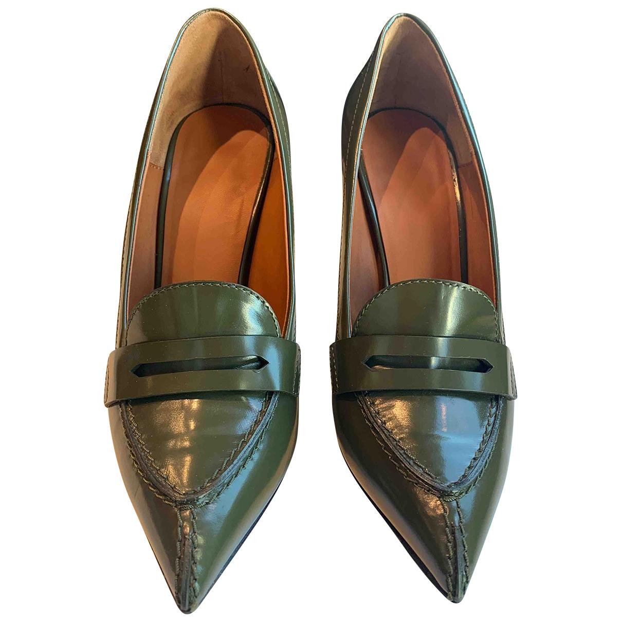 Celine \N Green Leather Heels for Women 38 IT