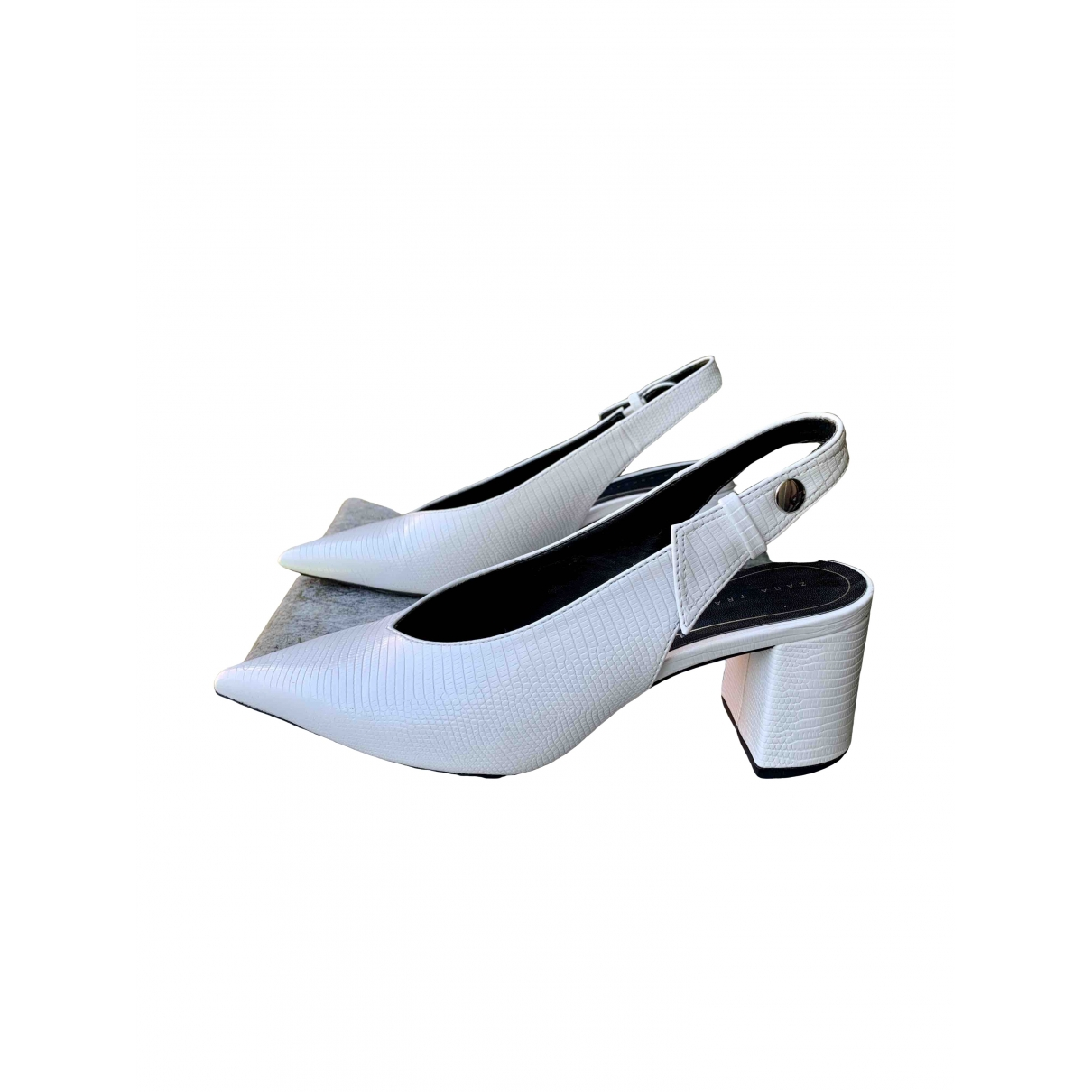 Zara \N White Heels for Women 37 EU