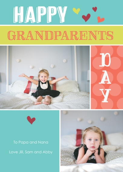 Grandparent's Day Flat Matte Photo Paper Cards with Envelopes, 5x7, Card & Stationery -Lots of Love