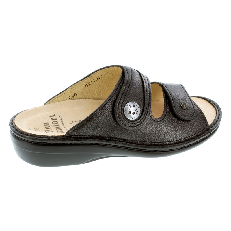 Finn Comfort Mira Pony Nero Silver Leather Soft Footbed 39