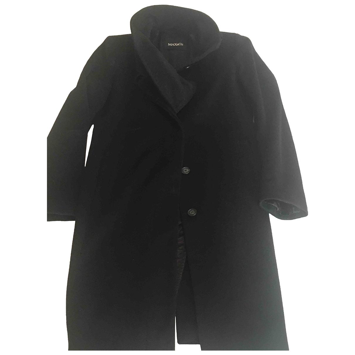 Max & Co \N Black Wool coat for Women 44 IT