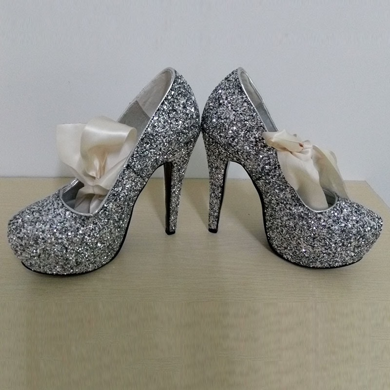 Ericdress Stiletto Heel Ribbon Round Toe Wedding Shoes