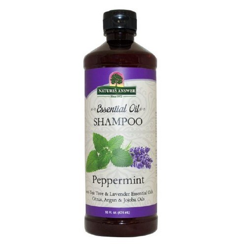 Essential Oil Shampoo Peppermint 16 Oz by Nature's Answer