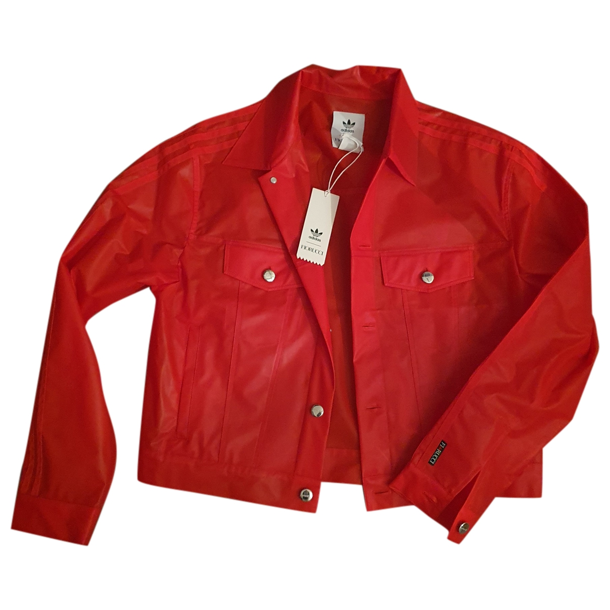 Adidas \N Red Leather jacket for Women 36 FR
