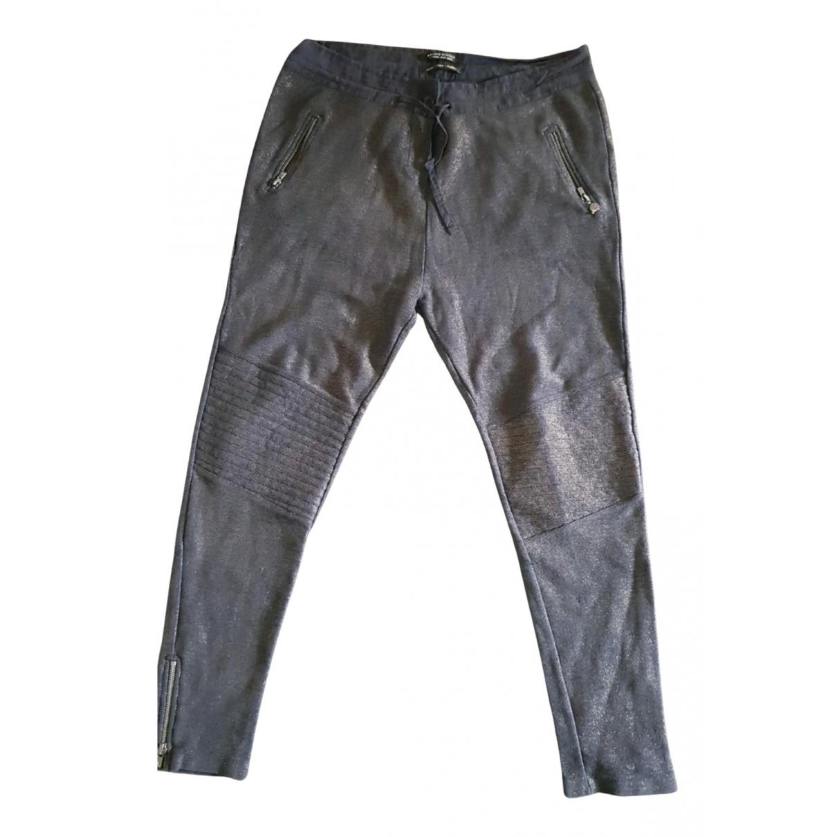 Maison Scotch N Blue Cotton Trousers for Women 42 FR