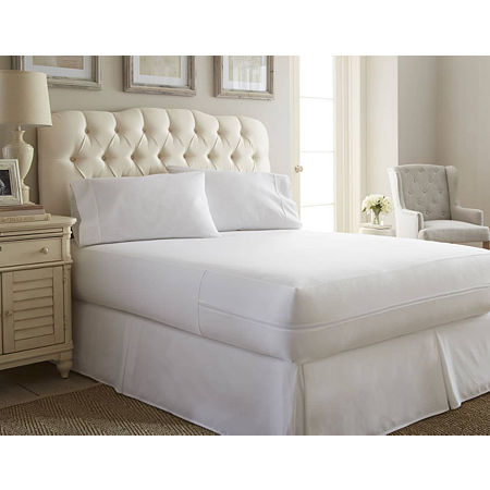 Casual Comfort Premium Bed Bug and Spill Proof Zippered Mattress Protector, One Size , White