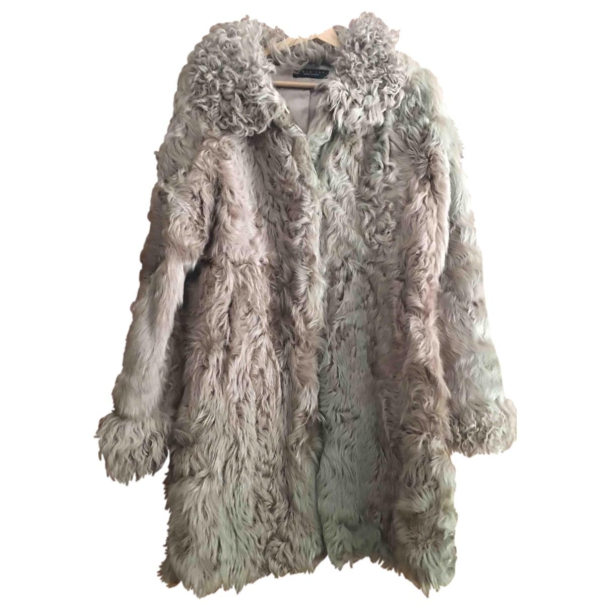 Twin Set \N Beige Mongolian Lamb coat for Women S International