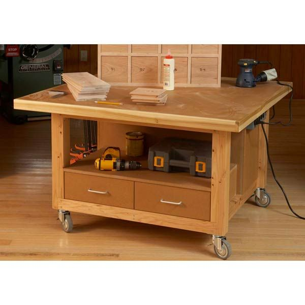 Woodworking Project Paper Plan to Build Reliably Rugged Assembly Table