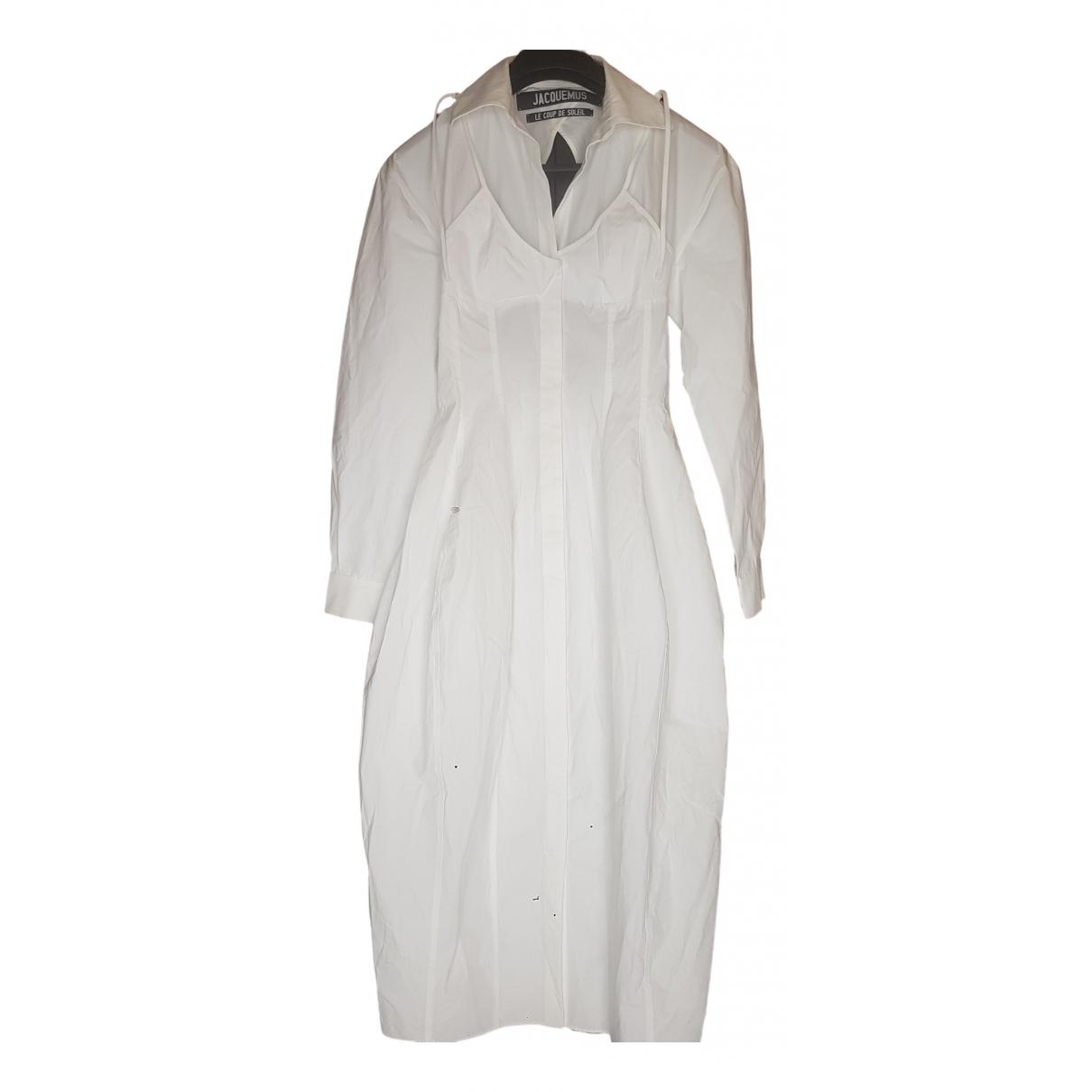 Jacquemus Le coup de soleil White Cotton dress for Women 36 FR