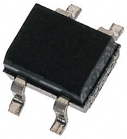 HY Electronic Corp MB16S, Bridge Rectifier, 1A 600V, 4-Pin MBS-2 (100)