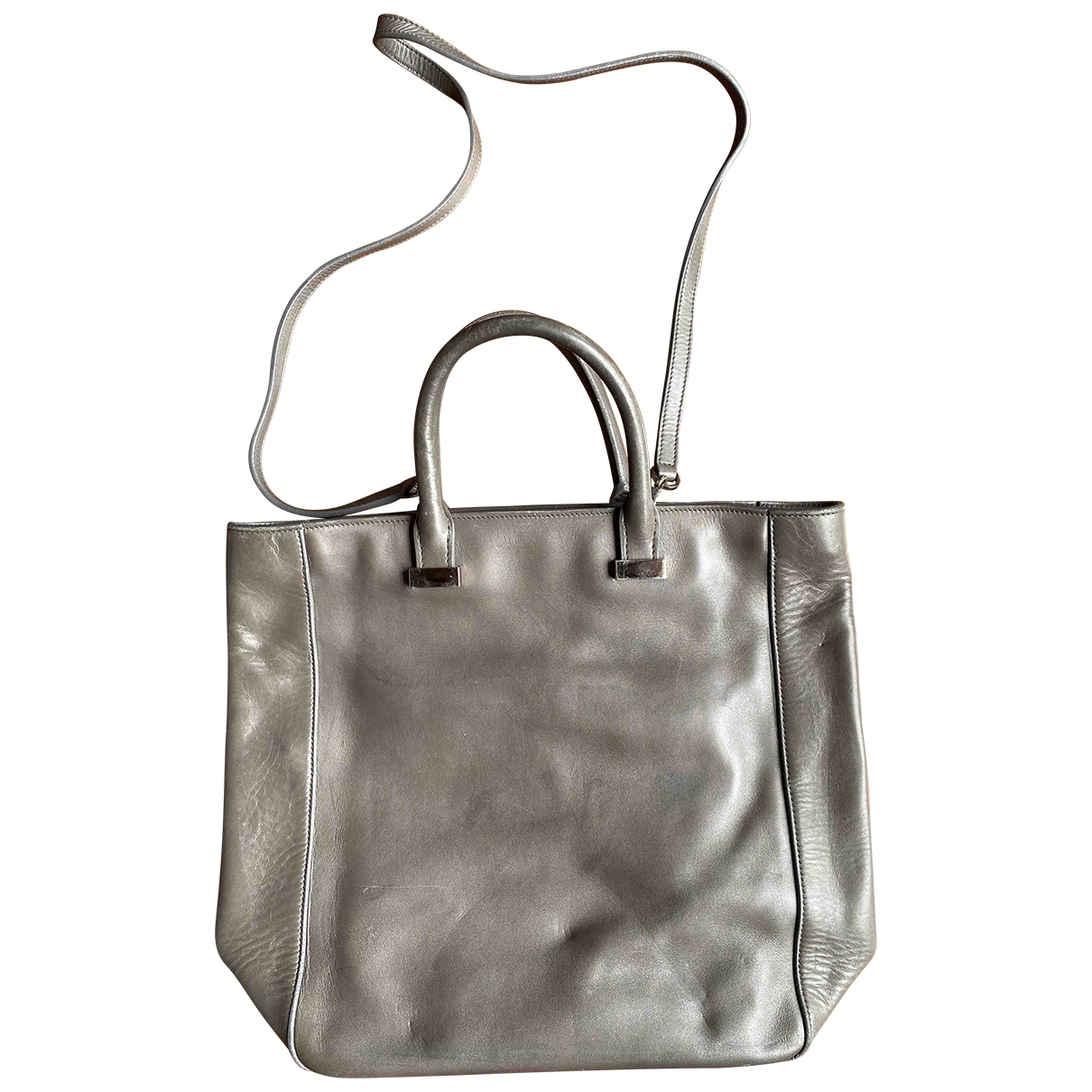 The Row \N Grey Leather handbag for Women \N