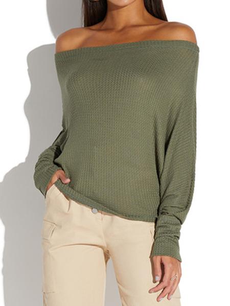 Yoins CELMIA Off The Shoulder Long Sleeves Blouse