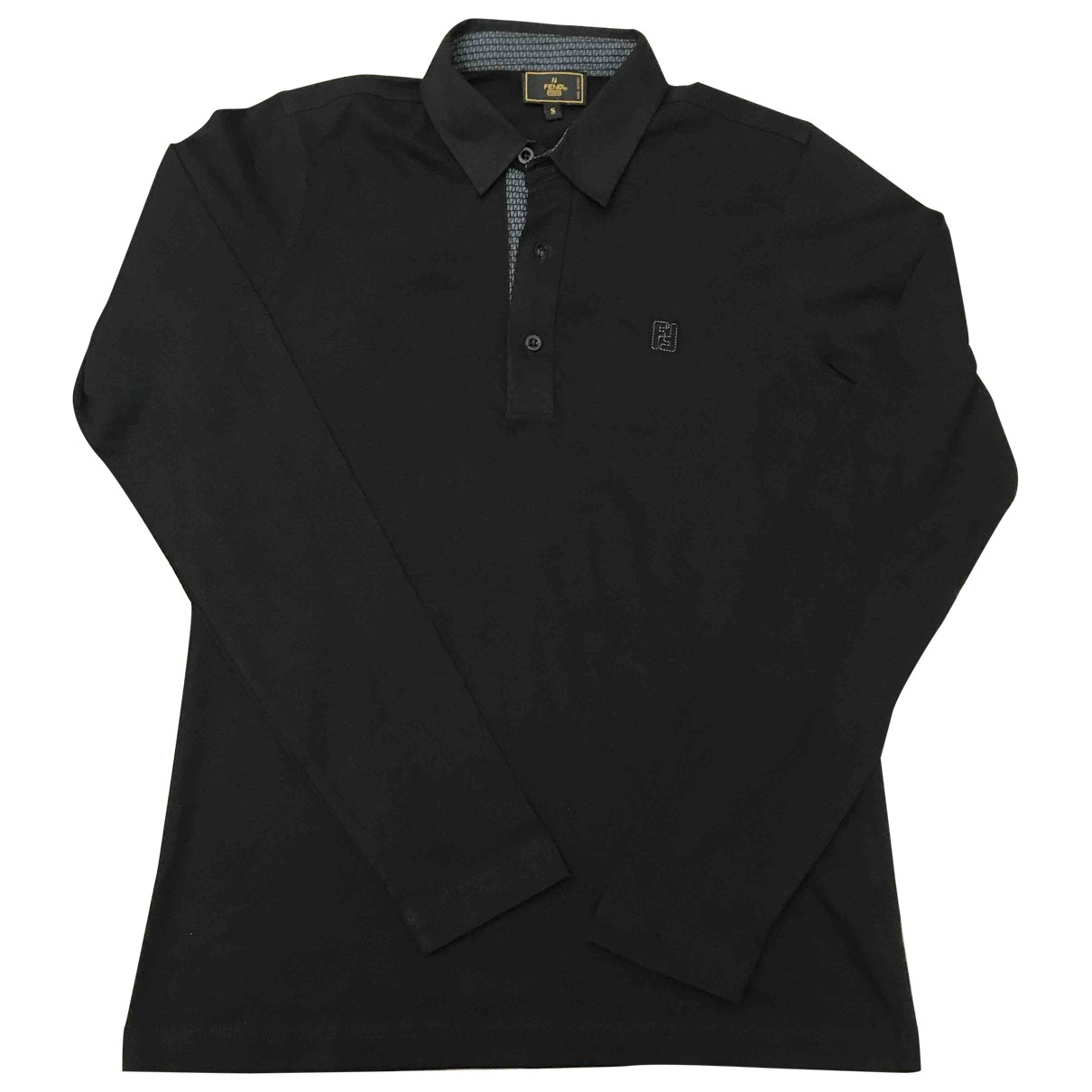 Fendi \N Black Cotton Polo shirts for Men S