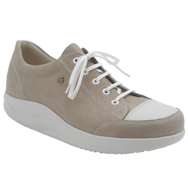 Finn Comfort Ikebukuro Taupe Leather Soft Footbed 35 Uk