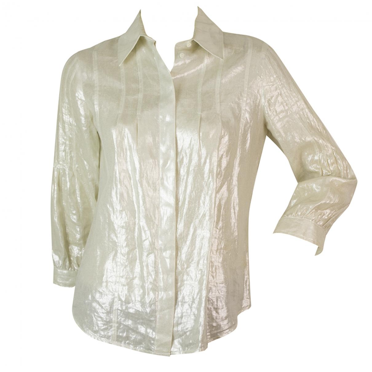 Dior \N Ecru Linen  top for Women 38 FR