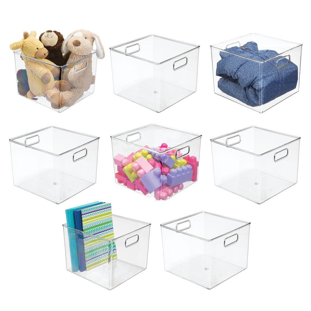 Plastic Home Storage Organizer Bin for Furniture Cubby Storage in Clear, 10