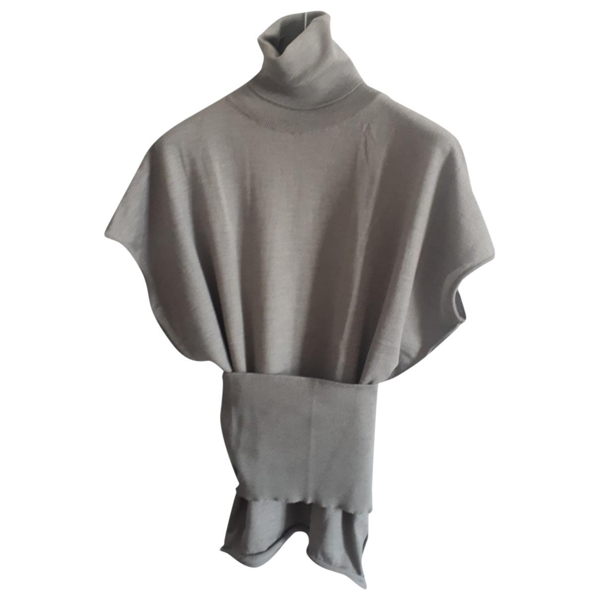 Non Signé / Unsigned \N Grey Wool Knitwear for Women 48 IT