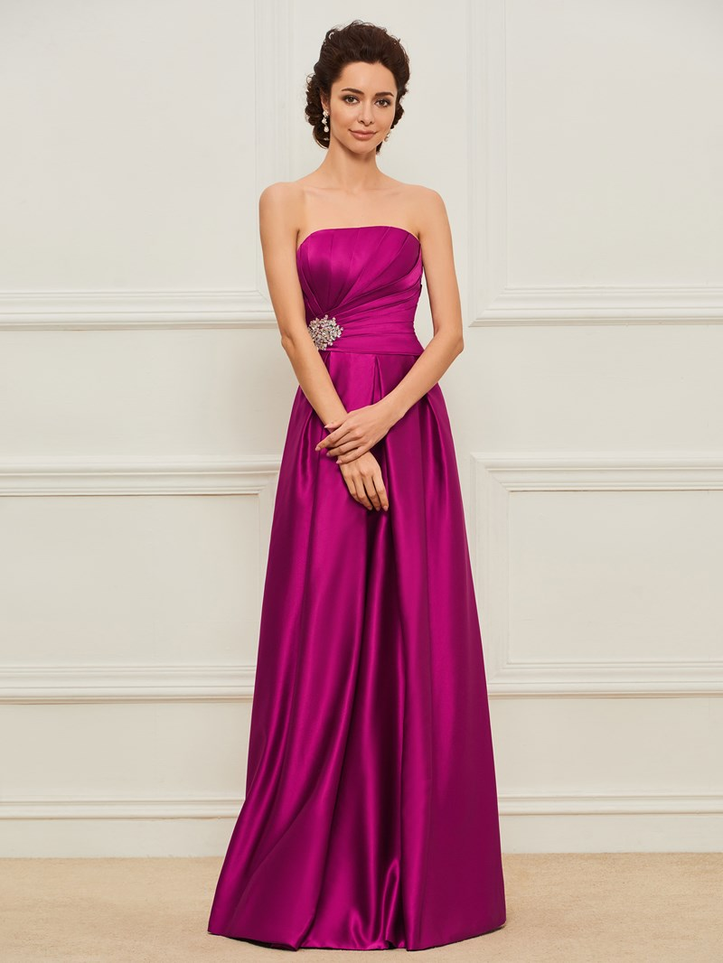 Ericdress Strapless A-Line Beading Mother of the Bride Dress
