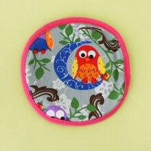 1pc Cartoon Owl Pattern Dog Frisbee Toy