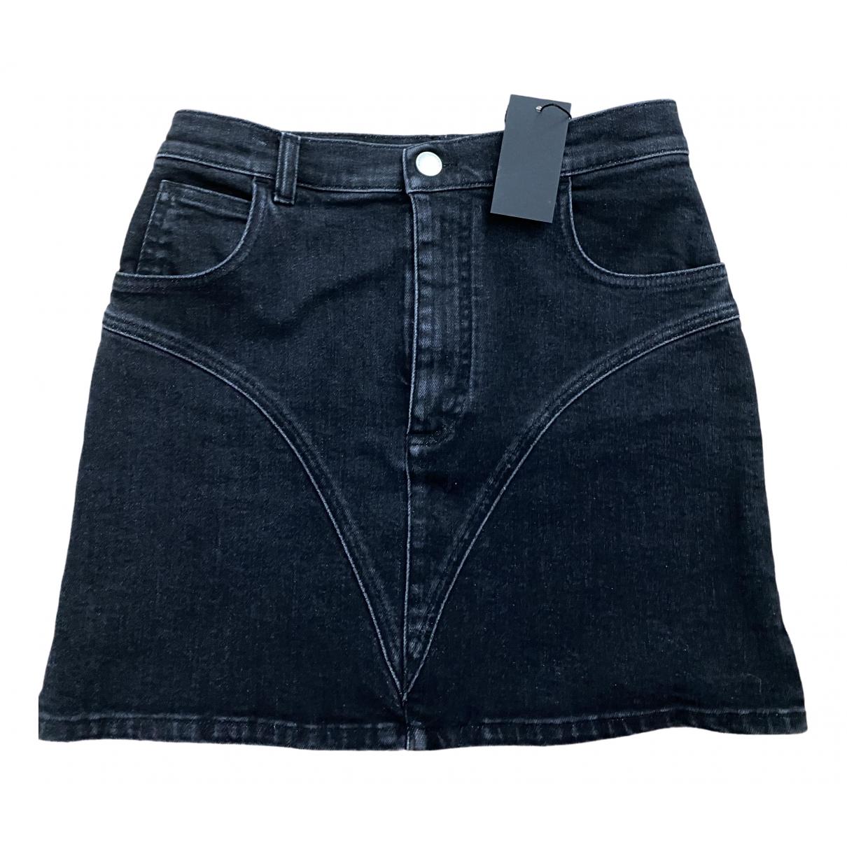 Alessandra Rich \N Black Denim - Jeans skirt for Women 38 FR