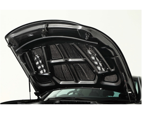 Varis VBNI-115 FRP V-Shaped Bonnet Hood with Dual Fins Infiniti M37 | M56 Y51 Fuga 11-13