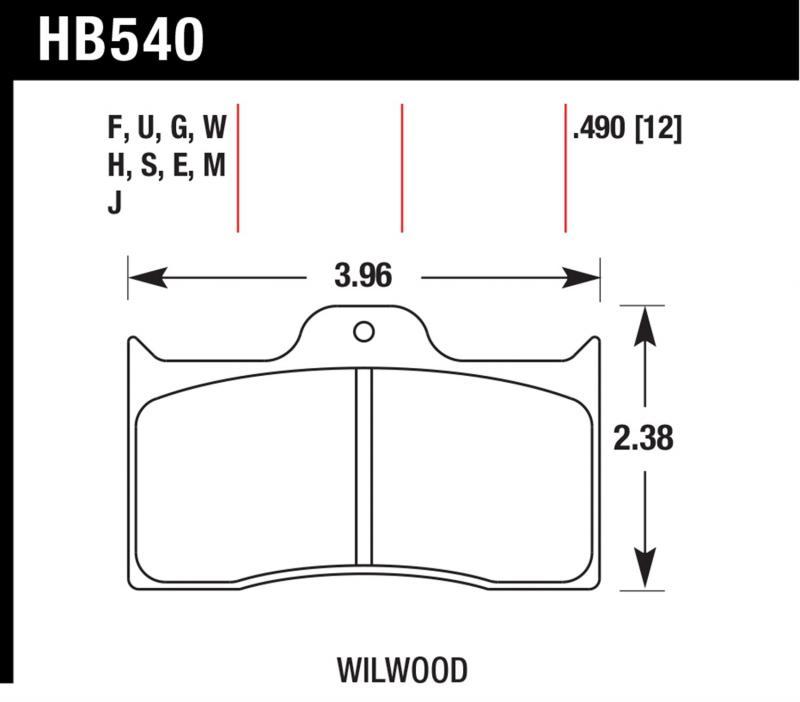 Hawk Performance HB540S.490 Disc Brake Pad