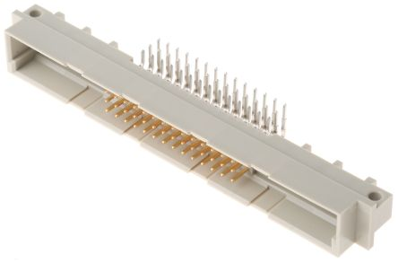 ERNI , DIN 41612 42 + 6 Way 2.54mm Pitch, Type M Class C2, 3 Row, Right Angle DIN 41612 Connector, Plug