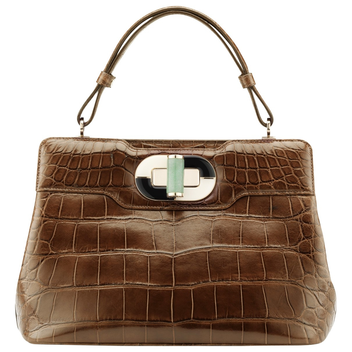 Bvlgari Rossellini Brown Alligator handbag for Women \N