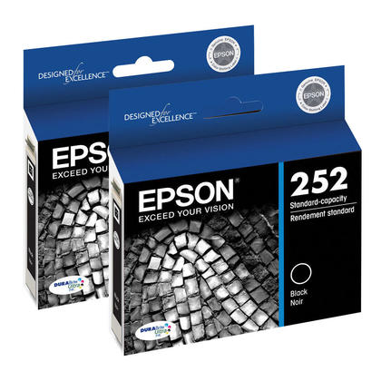 Epson 252 T252120 Original Black Ink Cartridge - 2/Pack