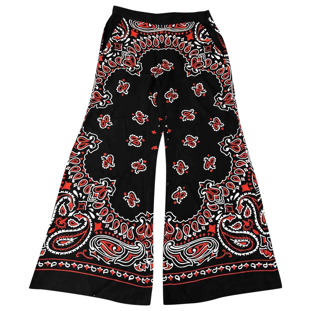 Moschino \N Multicolour Silk Trousers for Women 44 IT