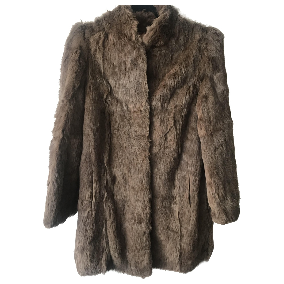 Non Signé / Unsigned \N Beige Rabbit coat for Women 12 UK
