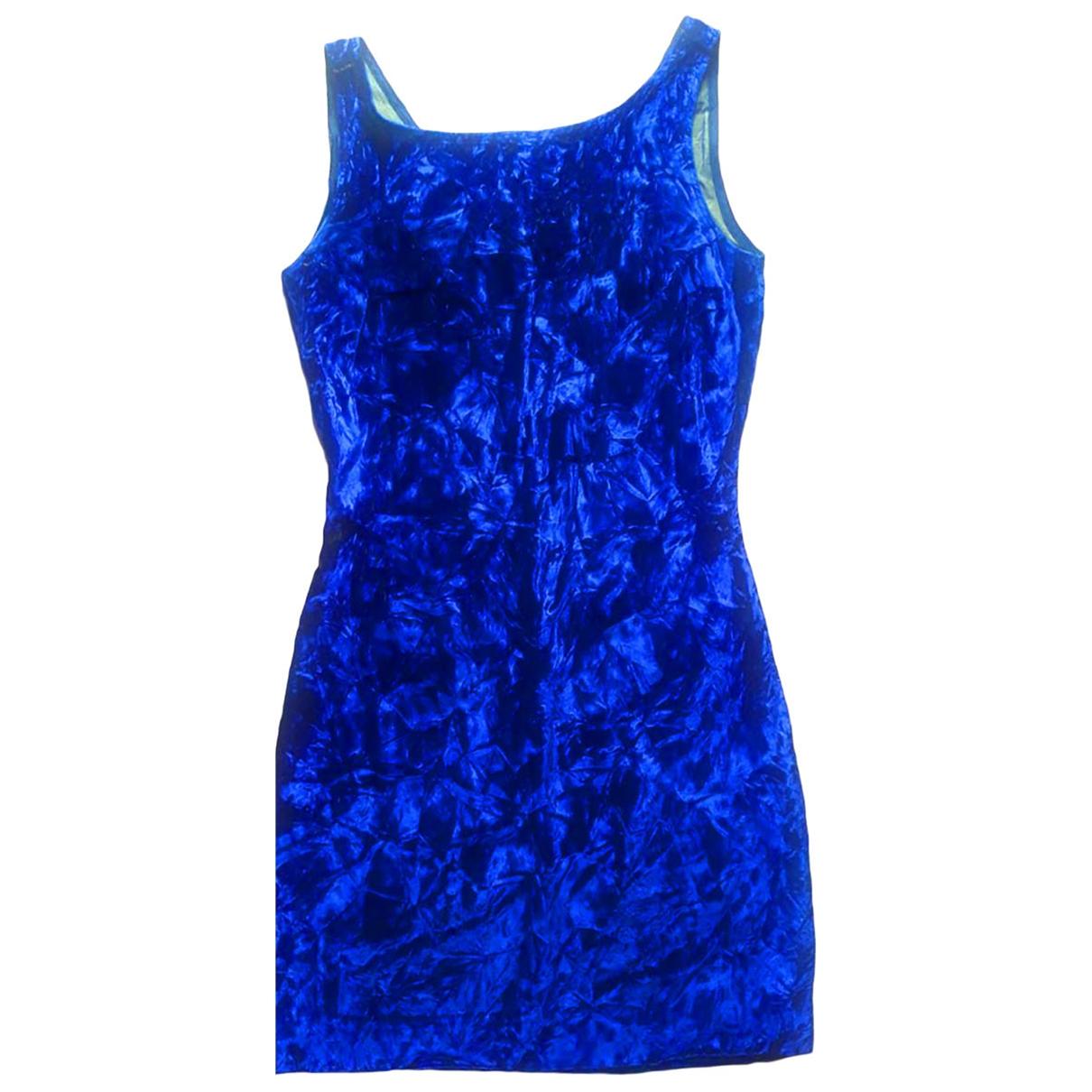 Non Signé / Unsigned \N Blue Velvet dress for Women 40 IT