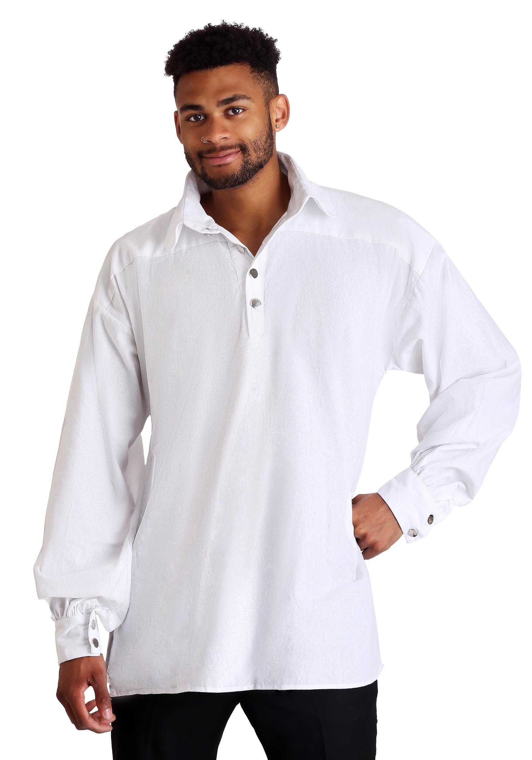 White Renaissance Shirt for Men