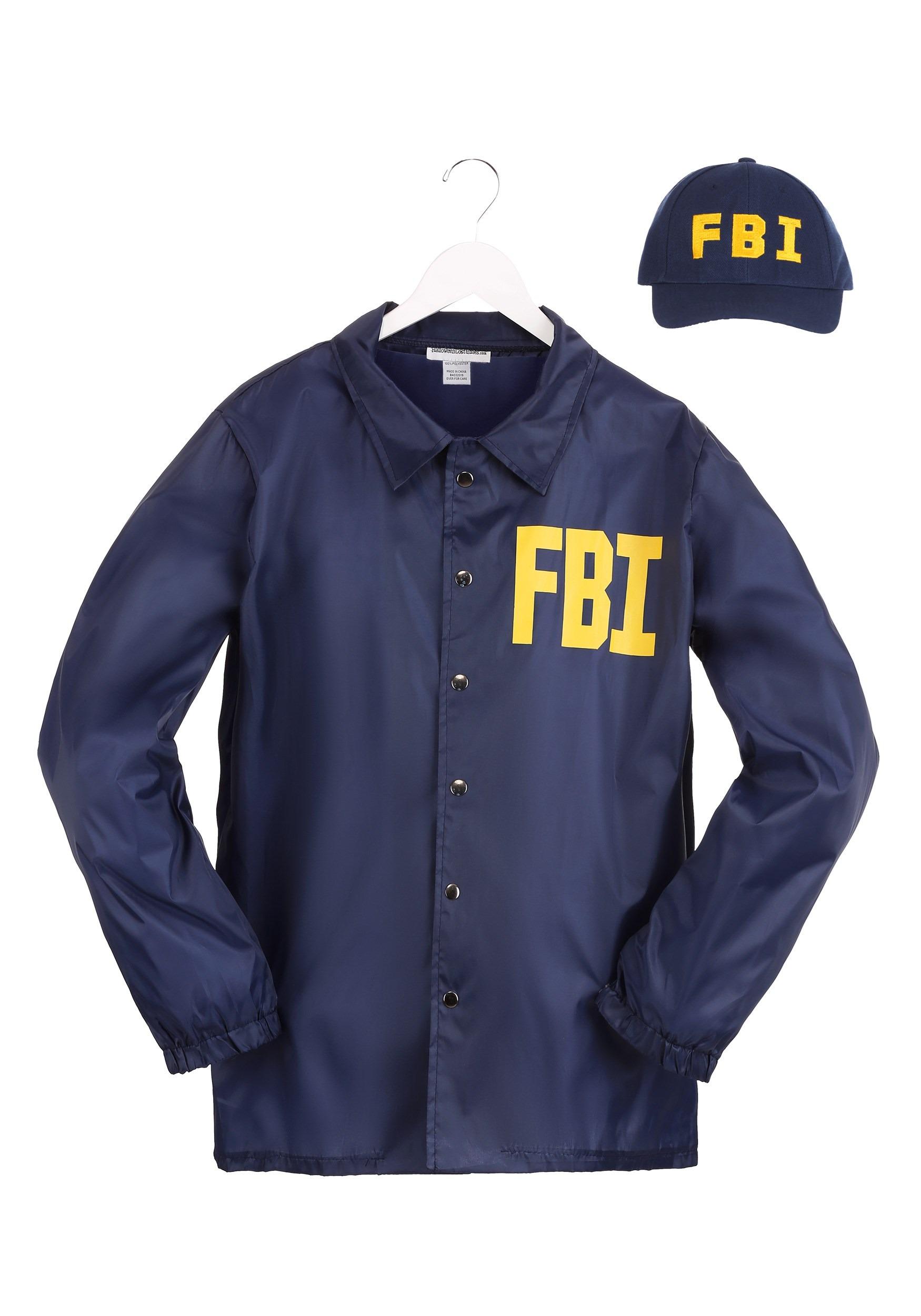FBI Adult Costume Set 2X 3X 4X
