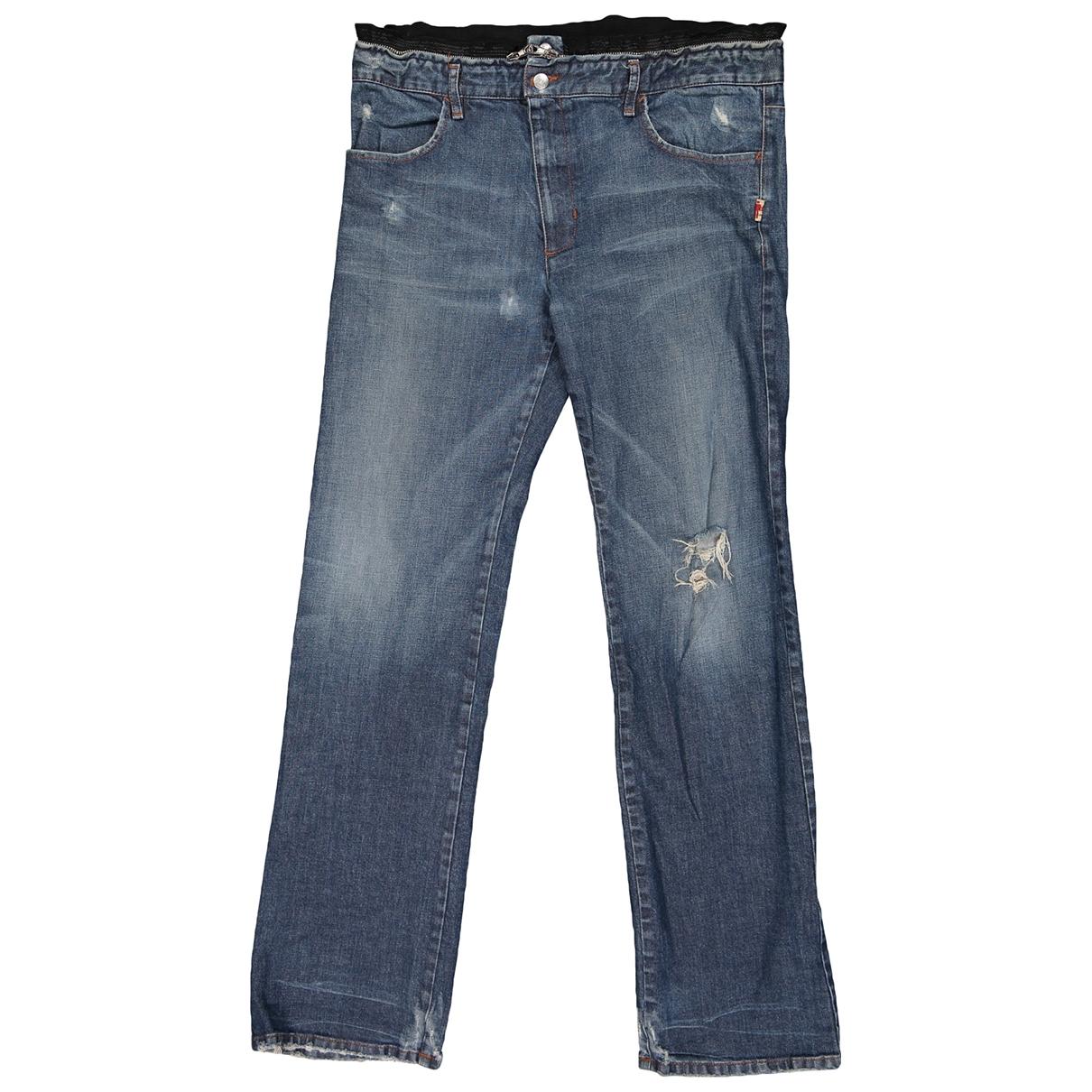 Jean Paul Gaultier \N Blue Cotton - elasthane Jeans for Men 44 FR