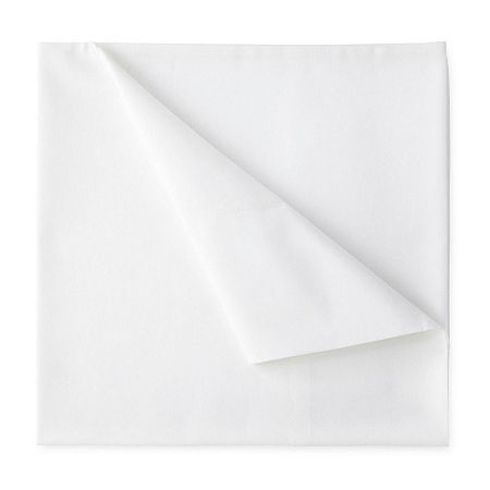 JCPenney Home 300tc 100% Cotton Percale Ultra Soft Solid and Print Sheet Sets, One Size , White