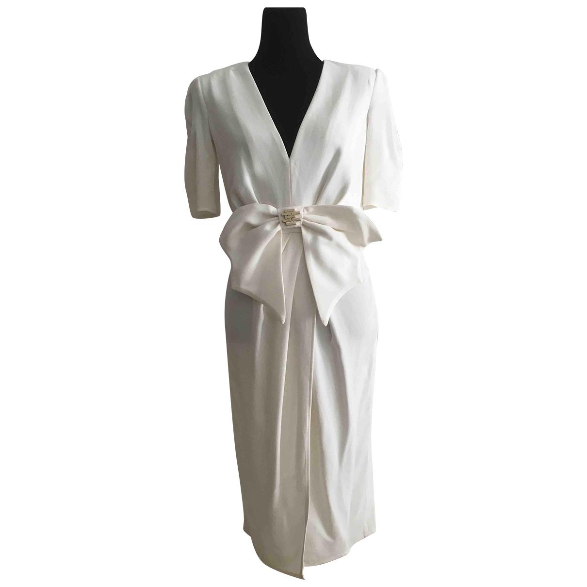 Elisabetta Franchi \N White dress for Women 42 IT
