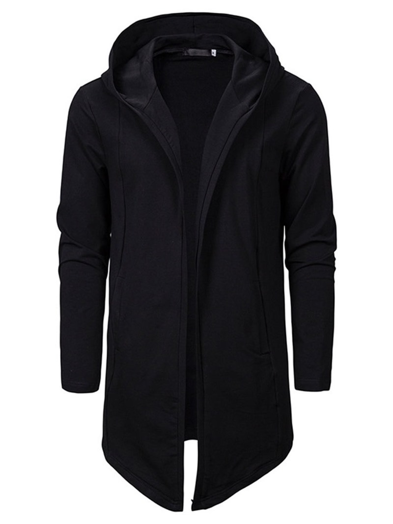 Ericdress Cardigan Plain Slim Men's Hoodies