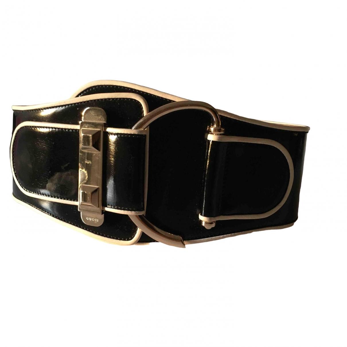 Gucci \N Black Leather belt for Women XS International