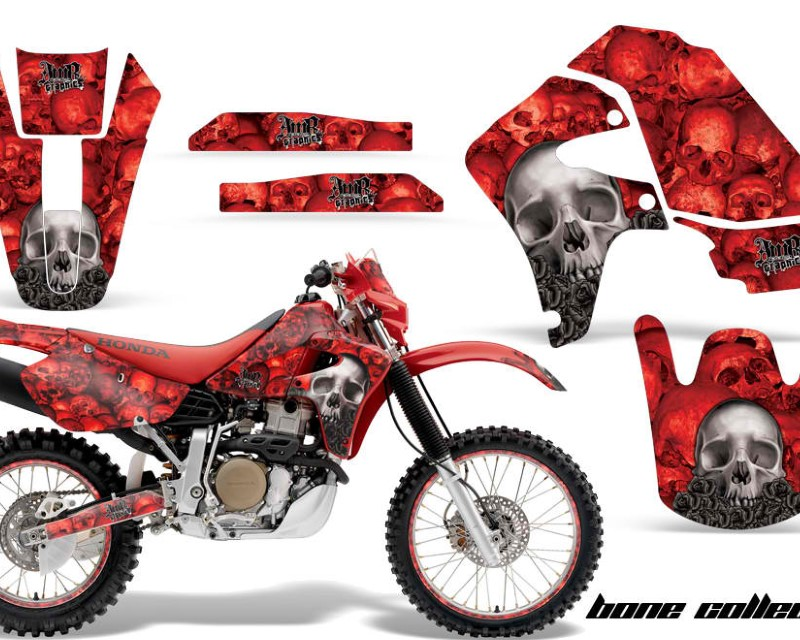 AMR Racing Graphics MX-NP-HON-XR650R-00-10-BC R Kit Decal Sticker Wrap + # Plates For Honda XR650R 2000-2010?BONES RED