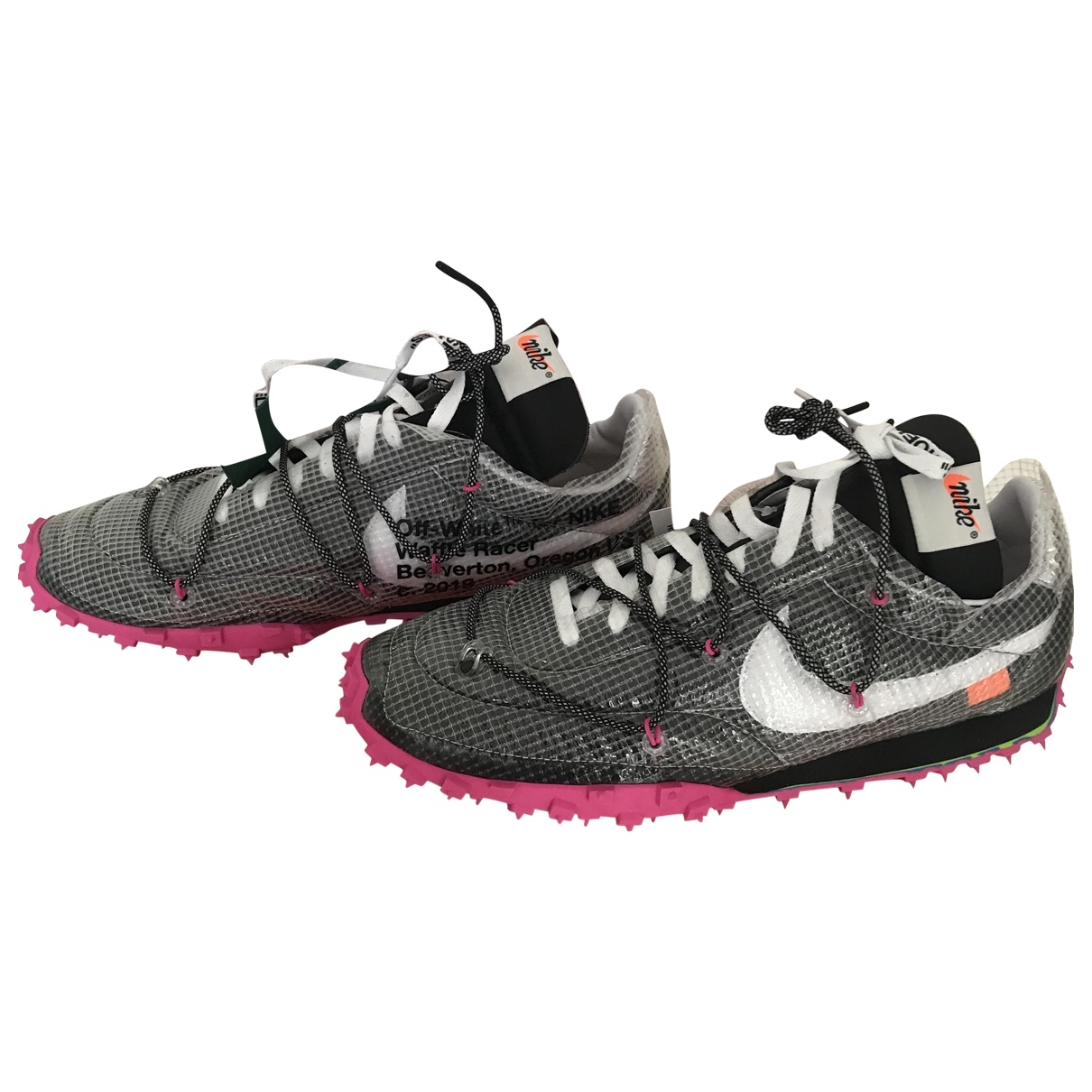 Nike X Off-white Waffle Racer Black Trainers for Men 47 EU