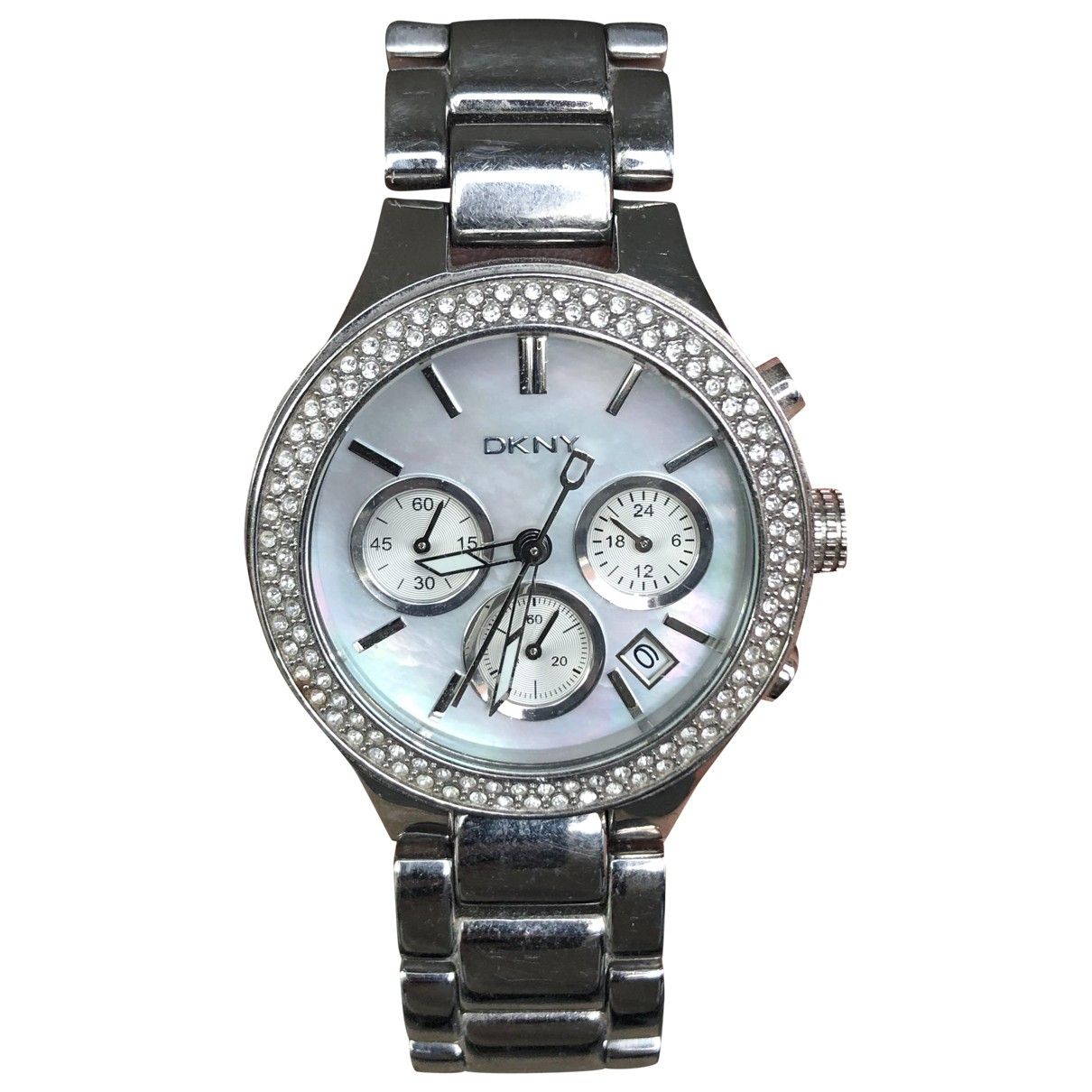 Dkny \N Silver Steel watch for Women \N