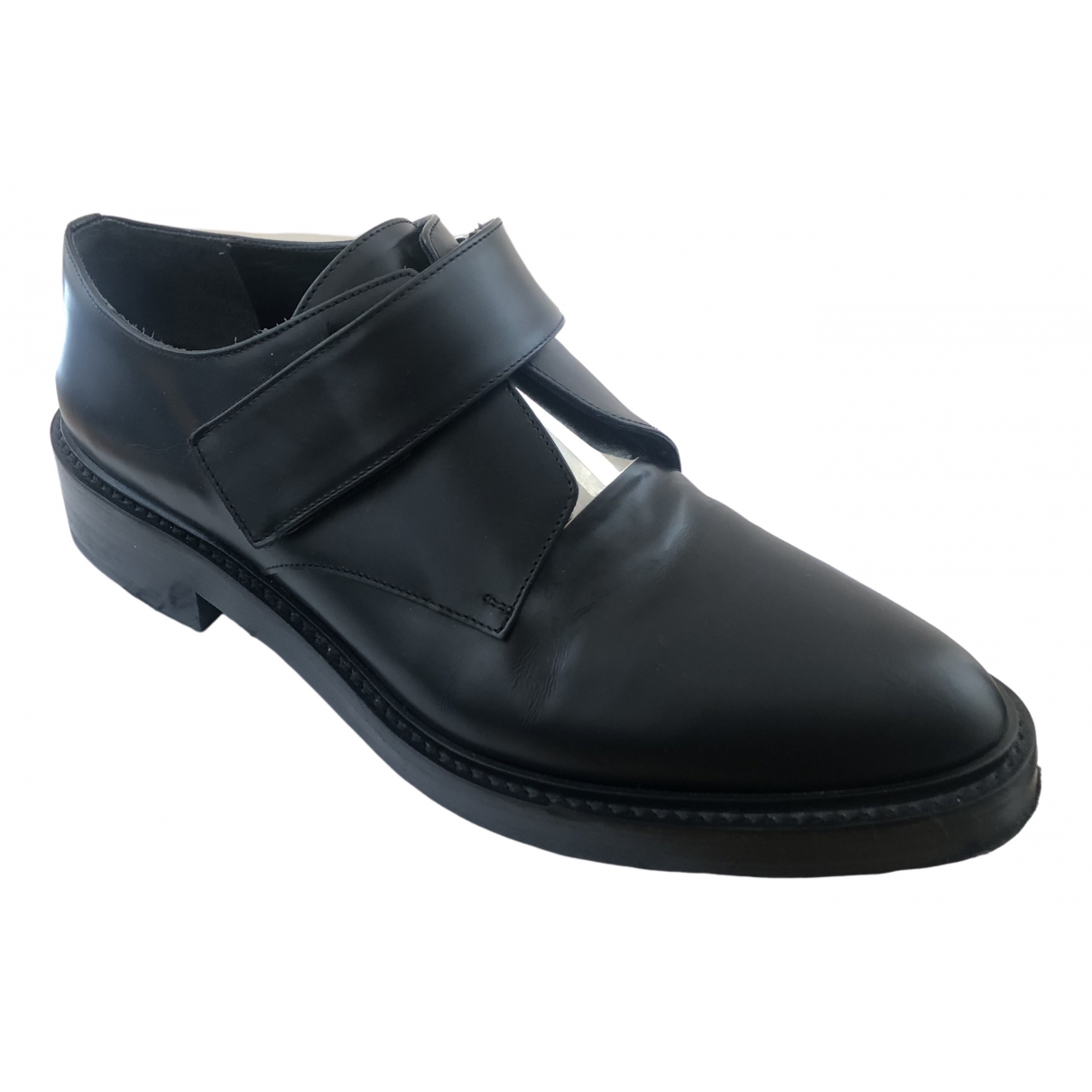 Vince \N Black Leather Flats for Women 5 UK