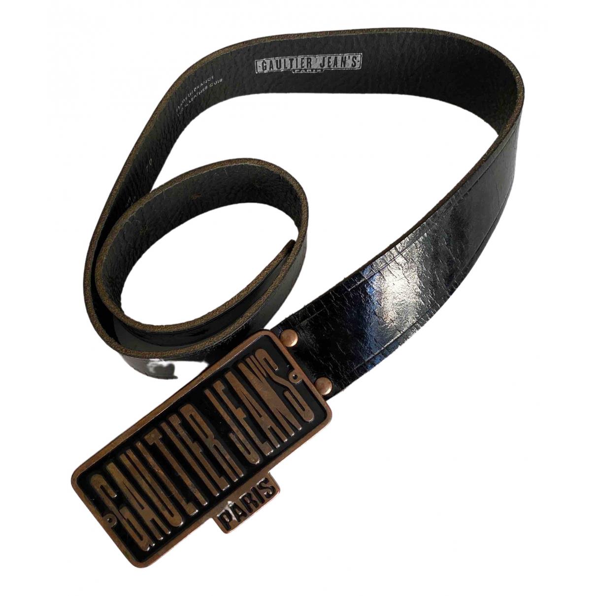 Jean Paul Gaultier \N Black Patent leather belt for Women 70 cm