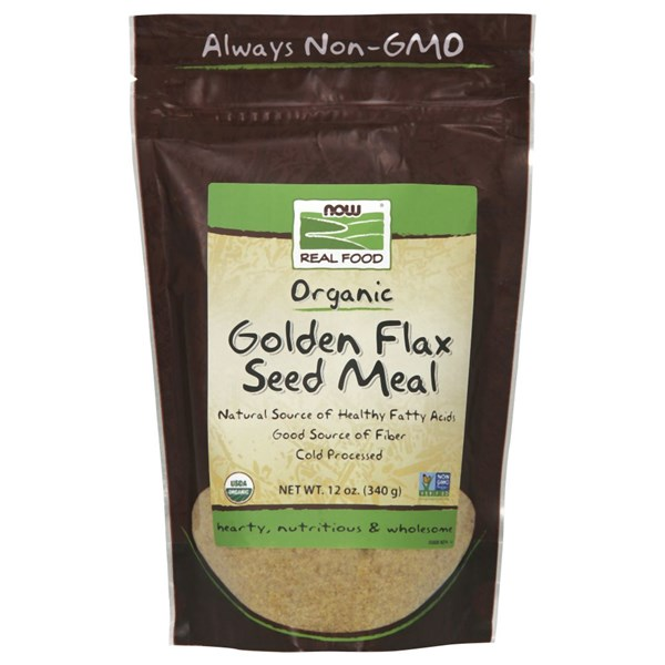 Golden Flax Seed Organic Meal 12 oz by Now Foods