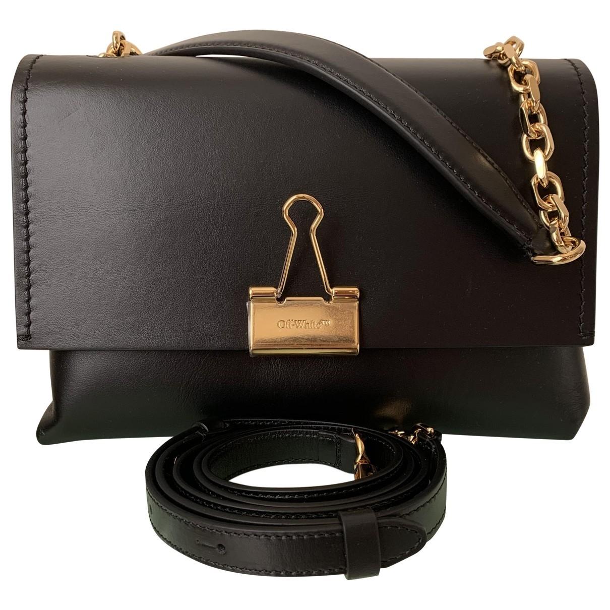 Off-white \N Black Leather handbag for Women \N